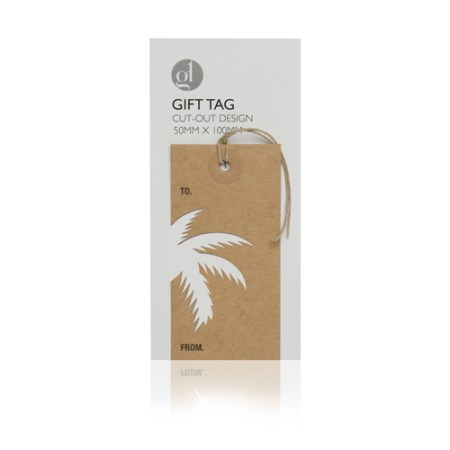 Palm Arabesque Cut Out Gift Tag