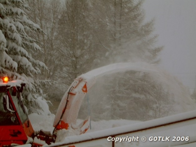 Swiss snow blower