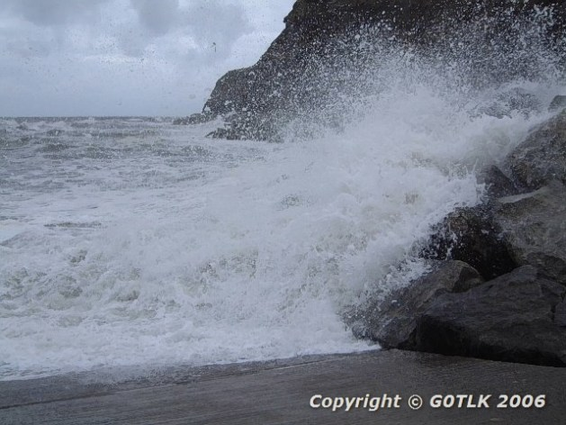 Iceland black beach with big wave