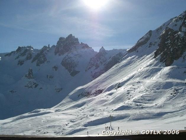 High altitude ski slopes