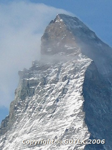 Matterhorn peak, from altitude