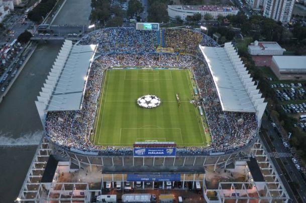 La Rosaleda conoce el himno de la UEFA Champions League