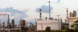 Refinery storage tanks, pressure vessels, and exhaust stacks - copyright G2MT Labs Refinery Metallurgical Services