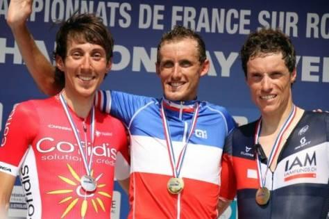 French national championships time-trial podium (image: Cofidis)