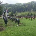 Crucile eroilor români din cimitirul Valea Uzului, acoperite cu saci de gunoi. Un grup de inițiativă maghiar susține că le-a acoperit pentru că ar fi fost amplasate ilegal