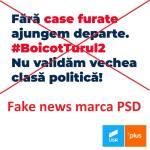 """Un nou val de fake news răspândit pe Facebook: Mesaje false, ca și cum ar veni din partea USR PLUS, prin care se îndeamnă la boicot în turul 2. Printre """"postaci"""": purtătorul de cuvânt al PSD și fiul lui Gabriel Oprea"""