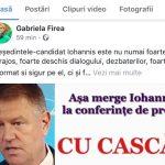 Gabriela Firea și-a șters postarea cu fake news-ul despre casca din urechea lui Klaus Iohannis. Postarea înregistrase sute de comentarii negative la adresa primarului