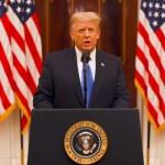 VIDEO În discursul de adio, Donald Trump a declarat că se va ruga pentru succesul noii administrații, fără să rostească numele lui Joe Biden