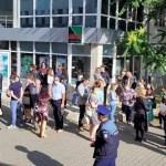 Protest al angajaţilor Primăriei Focşani, nemulţumiţi că nu şi-au primit salariile după ce Ministerul Finanțelor a invalidat bugetul municipiului