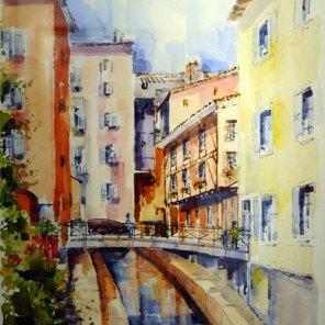 PRIX DE L'EXPRESSION ARTISTIQUE LOCALE : décerné par la Commission Culture de la Ville, Robert RAUSA pour le n°179 « Passerelle sur le Morgon »