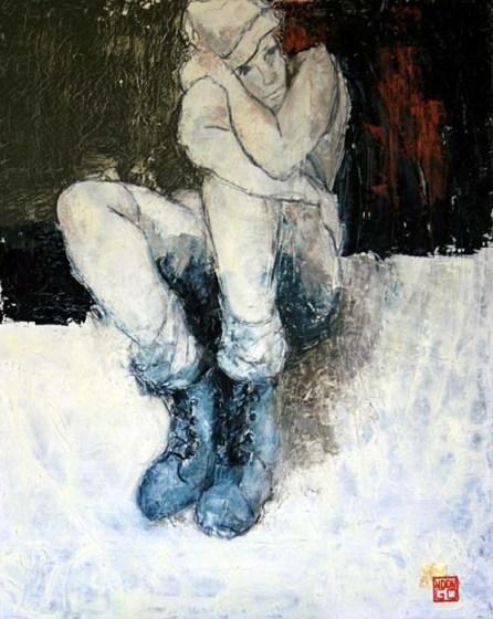 GRAND PRIX DU SALON 2012 : Offert par le GAB, Françoise NDONGO pour l'ensemble de son oeuvre