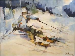MENTION SPECIALE DU JURY : attribuée par le Jury du GAB Jean BERTHIER pour les tableaux n° 30 « Musicien » et n° 31 « Skieur »