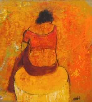 ACHAT DE LA VILLE : Catherine BACHELET tableaux n° 14″Petit pot » et n° 15 « Pichet bleu »
