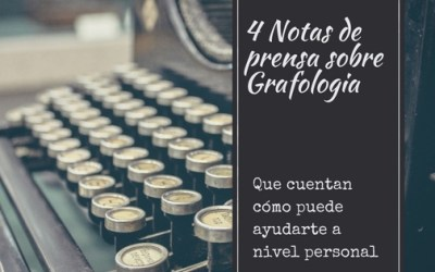 Artículos de prensa sobre Grafología en el ambito personal
