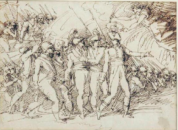 Felice Giani (San Sebastiano Curone, 15 dicembre 1758 – Roma, 11 gennaio 1823) Da i Fasti di Napoleone- Palazzo Reale Milano