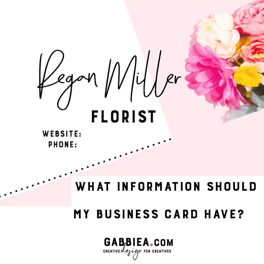 What information should my business card have?
