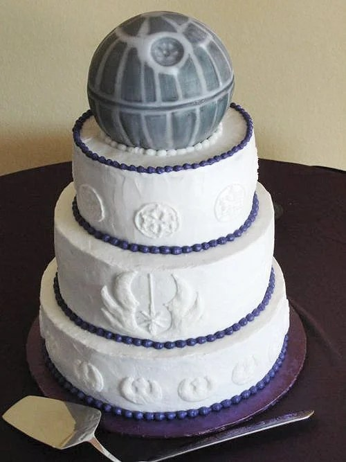 star wars wedding cake top 20 wars wedding cakes from a galaxy far far away 7677