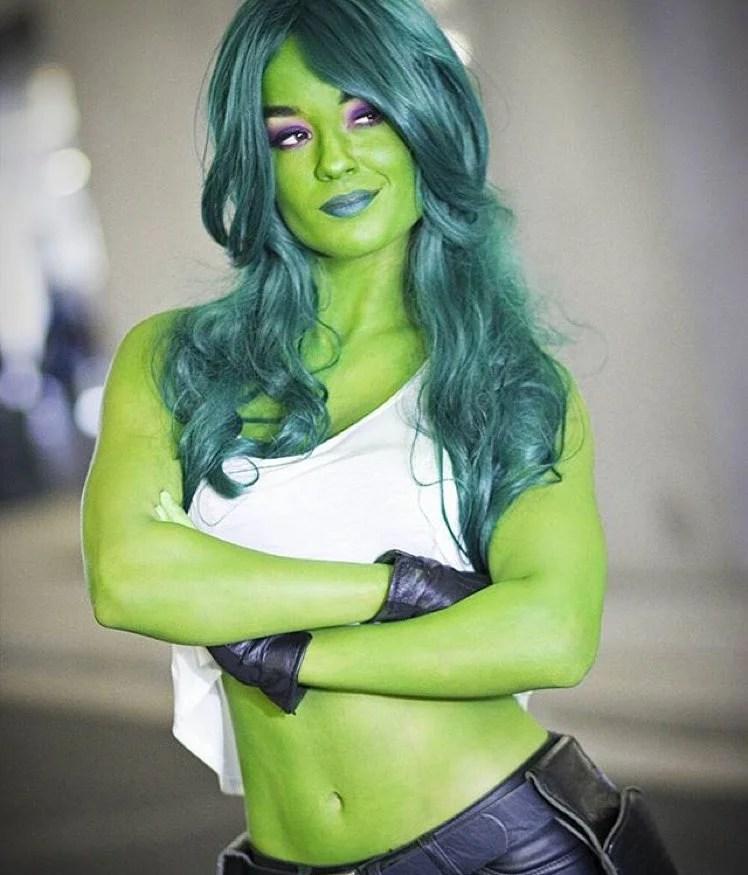 Sexy she hulk cosplay