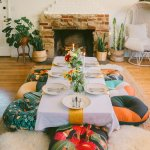 Inviting Floor Dining Table Bringing Japanese Into House Gabdearq