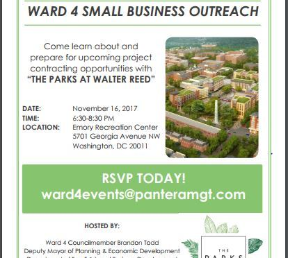 You're invited! Ward 4 Small Business Outreach