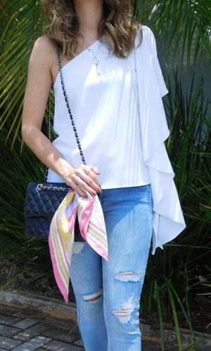 blusa, um ombro só, tendência, look do dia, Gabi May, one shoulder, top, trend, ootd