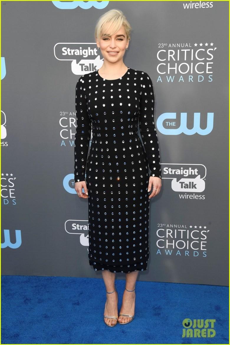 Critics' Choice Awards 2018, moda, estilo, looks, vestidos longos, celebridades, fashion, style, inspiration, gowns, celebrities, emilia clarke