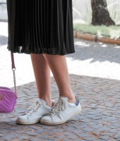 saia midi e tênis, gabi may, look do dia, look, moda, estilo, inspiração, combinação inusitada, midi skirt, white sneaker, fashion, style, inspiration, trend, outfit of the day, ootd