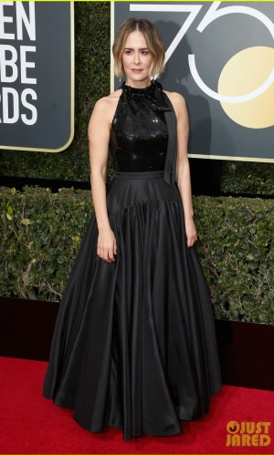 golden globe awards, golden globes 2018, moda, estilo, looks, inspiração, celebridades, tapete vermelho, fashion, style, outfits, gowns, inspiration, celebrities, red carpet, time's up, sarah paulson