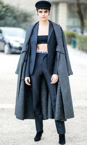 pfw fall 2018, street style, moda, estilo, looks, fashion, style, outfits, cara delevingne
