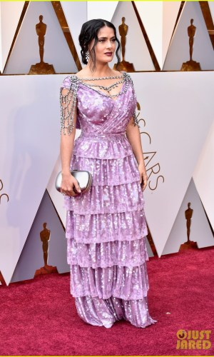 oscar 2018, tapete vermelho, celebridades, premiação, moda, estilo, looks, vestido longo, 2018 oscars, red carpet, celebrities, award season, fashion, style, gowns, outfits, salma hayek