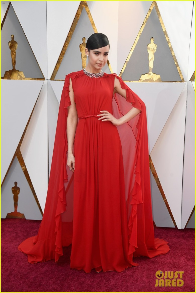 oscar 2018, tapete vermelho, celebridades, premiação, moda, estilo, looks, vestido longo, 2018 oscars, red carpet, celebrities, award season, fashion, style, gowns, outfits, sofia carson