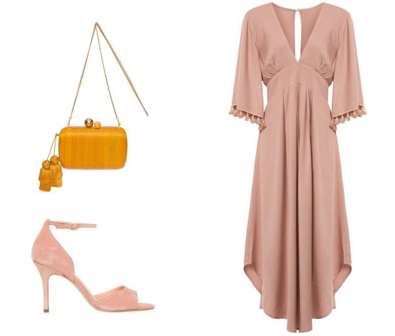 vestido nude midi, moda, estilo, looks, inspiração, item da semana, item of the week, midi nude dress, fashion, style, outfits, inspiration
