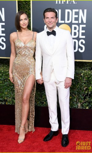 golden globes 2019, golden globes, awards season, red carpet, fashion, look, gown, tapete vermelho, premiação, moda, look, vestido longo, hollywood, irina shayk