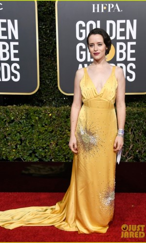 golden globes 2019, golden globes, awards season, red carpet, fashion, look, gown, tapete vermelho, premiação, moda, look, vestido longo, hollywood, claire foy
