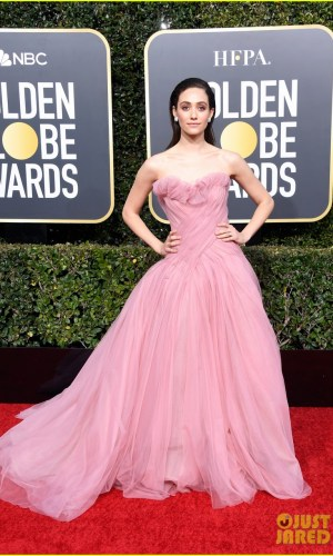 golden globes 2019, golden globes, awards season, red carpet, fashion, look, gown, tapete vermelho, premiação, moda, look, vestido longo, hollywood, emmy rossum