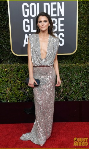 golden globes 2019, golden globes, awards season, red carpet, fashion, look, gown, tapete vermelho, premiação, moda, look, vestido longo, hollywood, keri russell