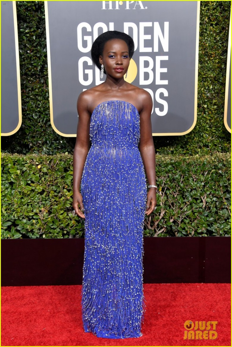 golden globes 2019, golden globes, awards season, red carpet, fashion, look, gown, tapete vermelho, premiação, moda, look, vestido longo, hollywood, lupita nyong'o
