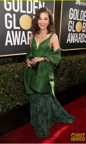 golden globes 2019, golden globes, awards season, red carpet, fashion, look, gown, tapete vermelho, premiação, moda, look, vestido longo, hollywood, michelle yeoh