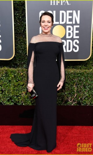 golden globes 2019, golden globes, awards season, red carpet, fashion, look, gown, tapete vermelho, premiação, moda, look, vestido longo, hollywood, olivia colman