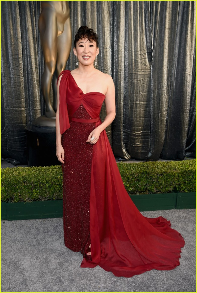 sag awards 2019, best dressed, mais bem vestidas, hollywood, moda, estilo, looks, fashion, style, outfits, sandra oh, jenny packham