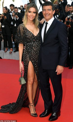 nicole kimpel and antonio banderas at the 2019 cannes film festival red carpet