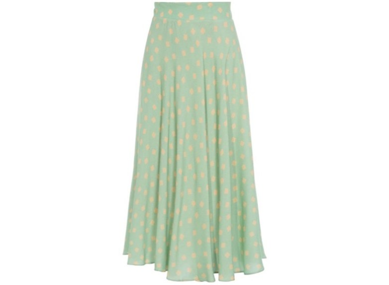 item da semana, link afiliado, saia verde clara, looks, midi, item of the week, affiliate link, pastel green skirt