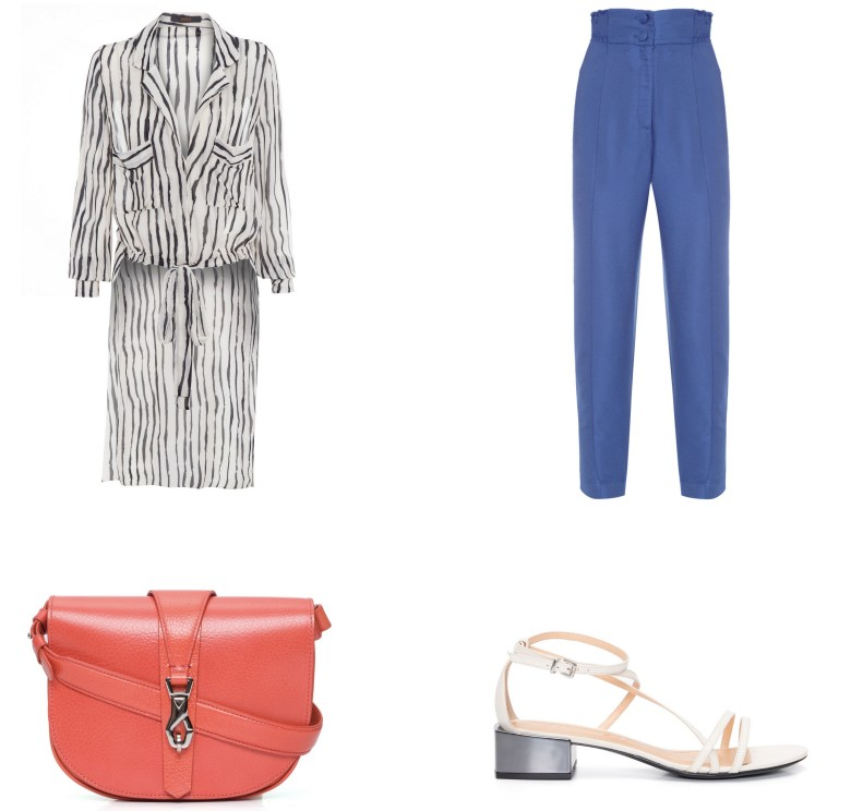 calça azul com cós alto, item da semana, looks, moda, high-waisted blue pants, item of the week, outfits