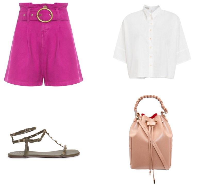 short clochard rosa, item da semana, looks, paperbag shorts, outfits