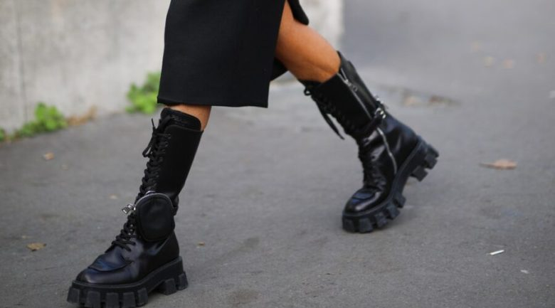 bota grosseira, tendência, trend, chunky boots, prada boots