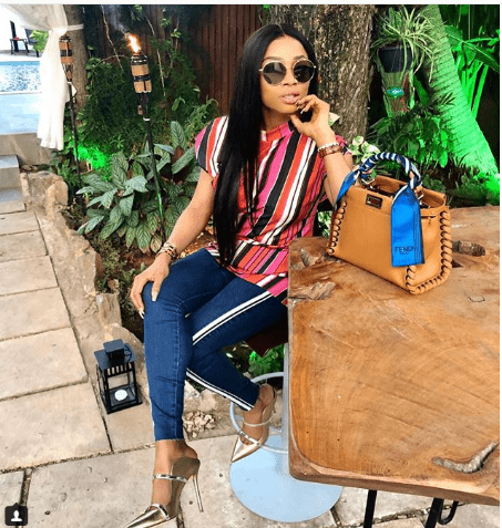 Toke Makinwa In her Fendi Bag