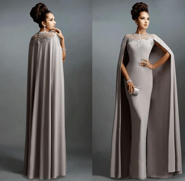 lovely wedding reception dress in grey