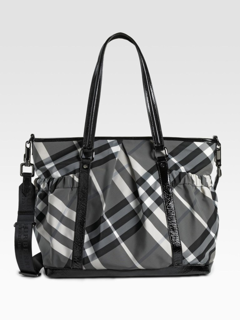 burberry haymarket diaper bag