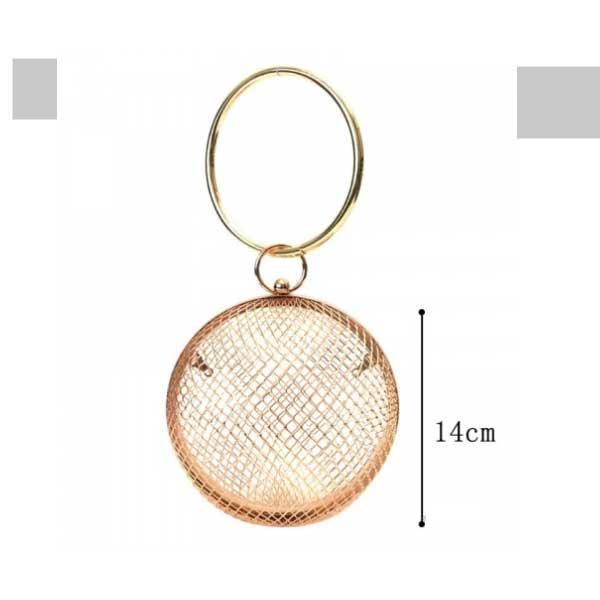 rose gold round cage ring bag (1)