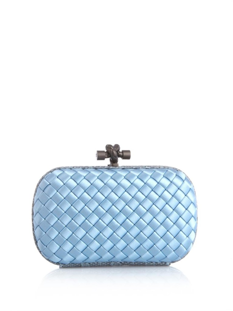 leather baby blue clutch bag